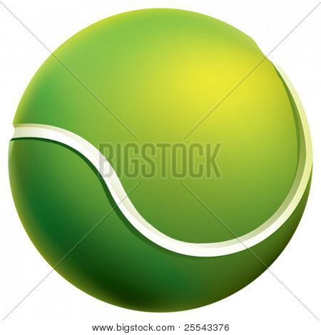Isolated tennis ball. Vector illustration.