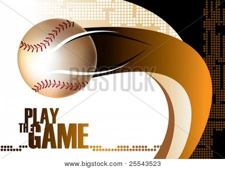 Baseball poster background. Vector illustration.