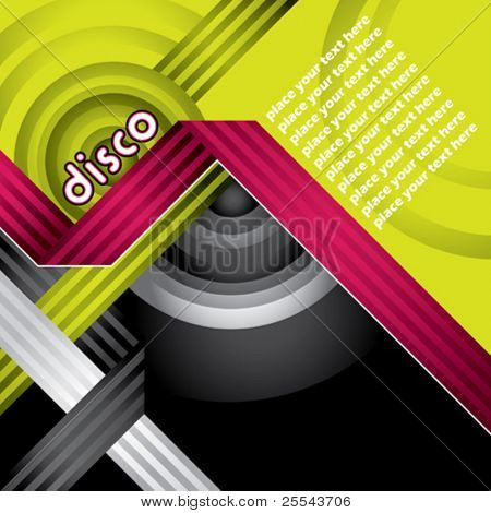 Modern designed disco banner. Vector illustration.