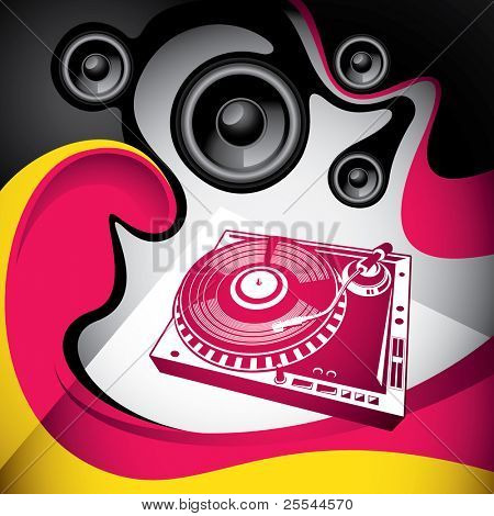 Conceptual urban party background with abstraction. Vector illustration.