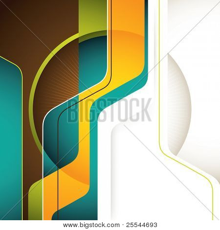 Illustrated modern background with abstract shapes. Vector illustration.