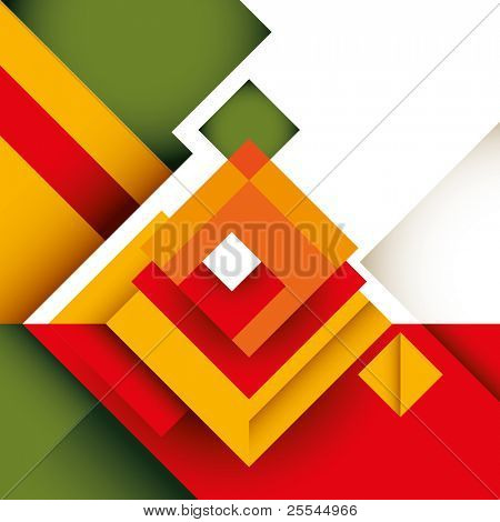 Abstract colorful graphic with rectangle shapes. Vector illustration.