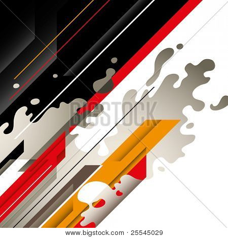 Artistic graphic with designed abstraction. Vector illustration.
