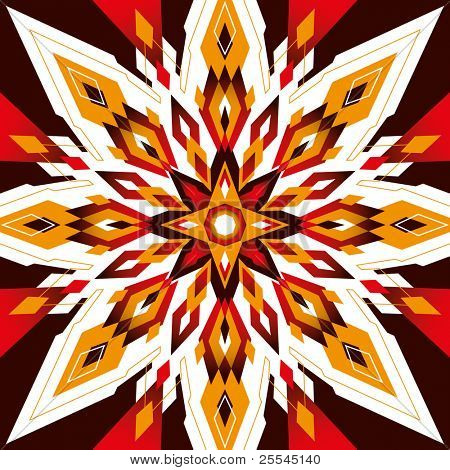 Modern arabesque with geometric shapes. Vector illustration.