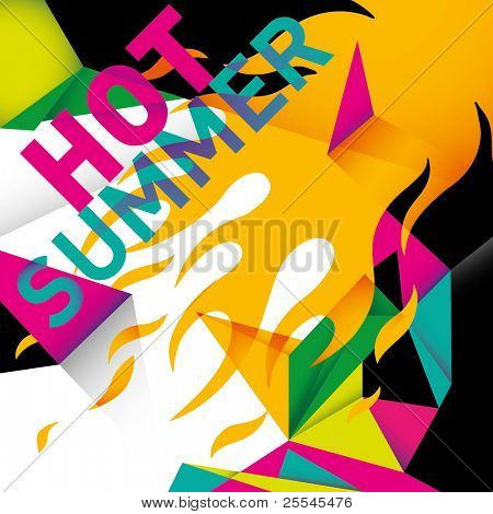 Abstract summer background in color. Vector illustration.