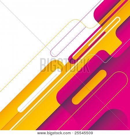 Modish background with designed shapes. Vector illustration.