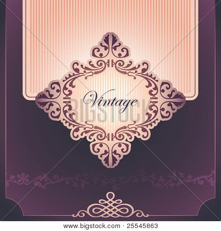Vintage background with elegant design. Vector illustration.