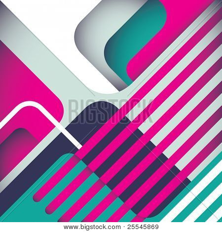 Stylized modern abstraction in color. Vector illustration.