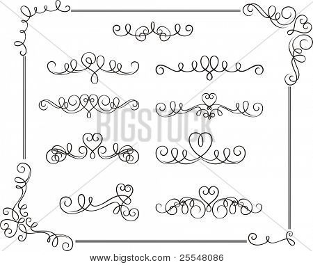 romantic scroll set