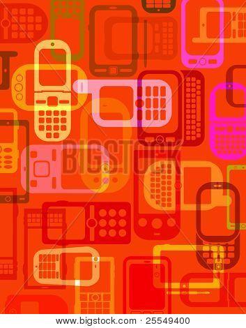 Handys und Smartphones Hintergrund