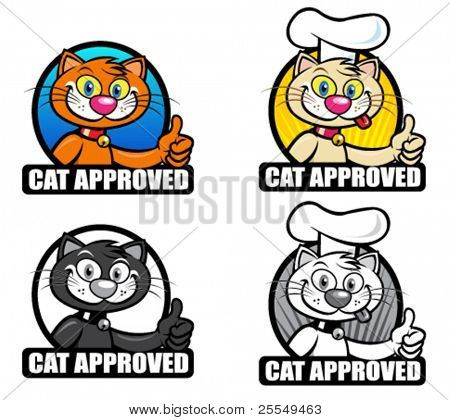 Cat Approved Seal / Icon / Badge