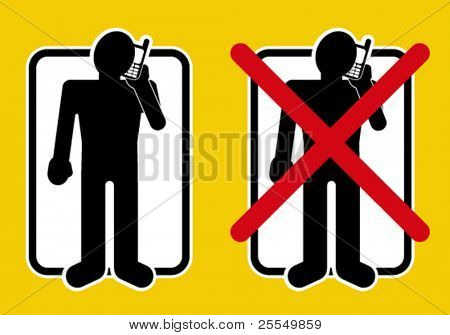 Permitted / not permitted talking by mobile devices