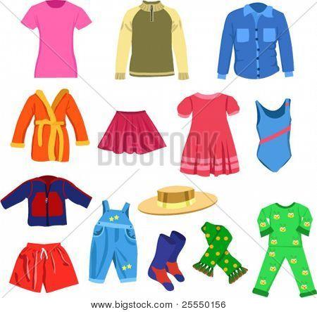 set of vector clothes