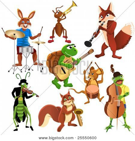 cartoon animals band