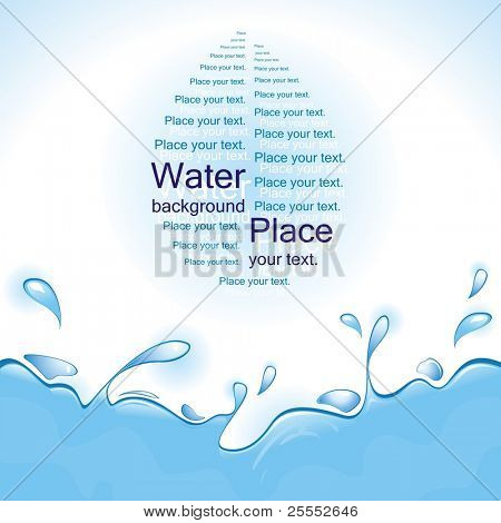 Water background. Vector illustration.