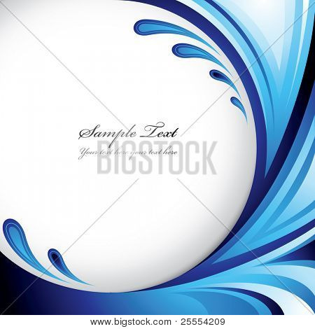 A splash of blue colors - Background design for your text