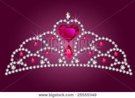 Pequeña princesa diadema