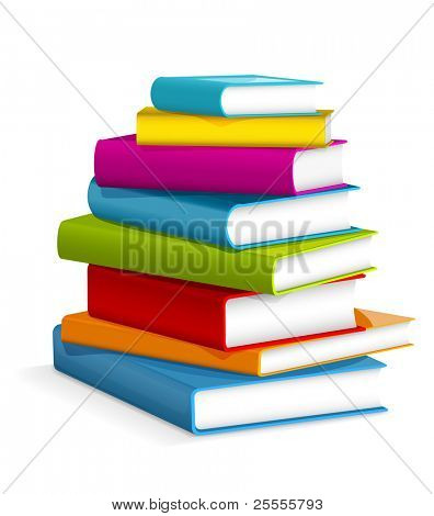 Books stack - vector illustration