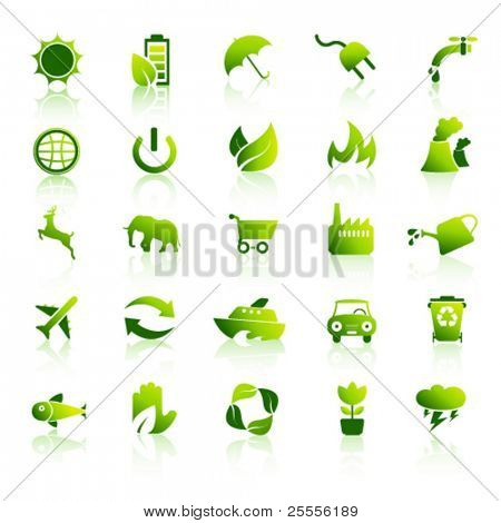 Medio ambiente icons set 1