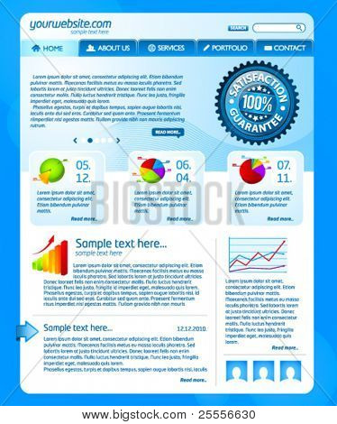 Plantilla de sitio web de negocios azul 2