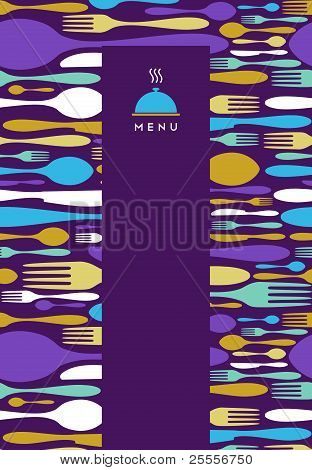 Food, Restaurant, Menu Design In Violet