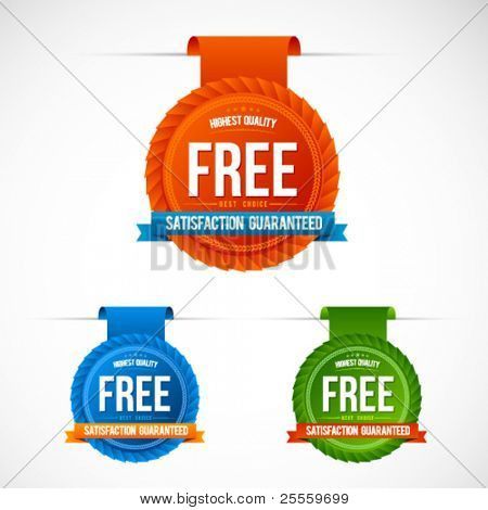 Colorful modern badges and stickers vector set