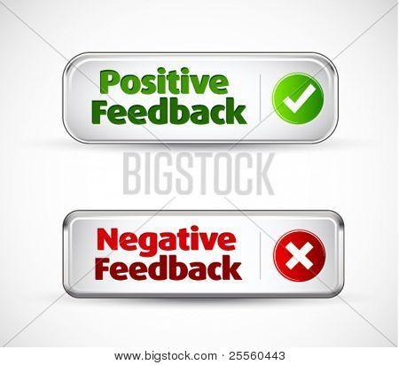 Positive and negative button style banners