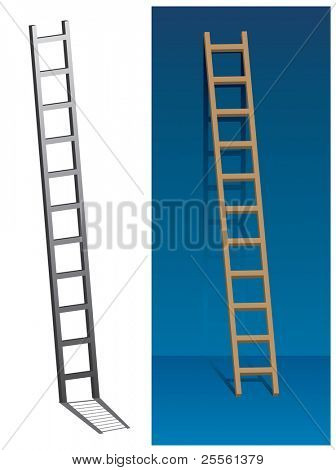 Ladder on the wall