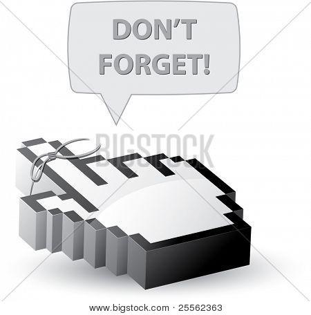 No te olvides el cursor del ratón de recordatorio