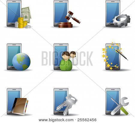 Conjunto de iconos de teléfonos móviles