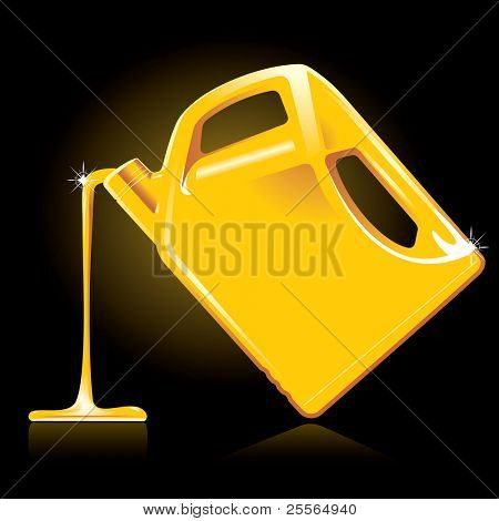 motor oil and canister, vector illustration
