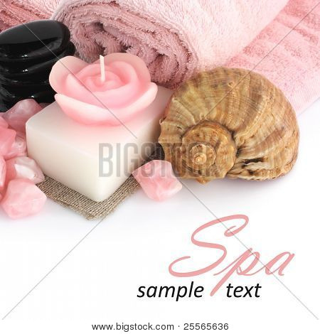 set of objects for body care and relaxation