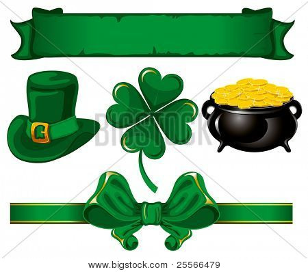 Set of beautiful design elements to St. Patrick's Day