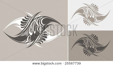 Abstract hand drawn shapes in tattoo style. Great for t-shirt design.