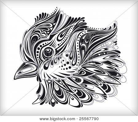 Abstract decorative spring bird