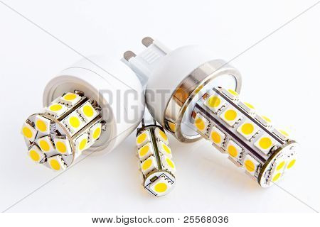 Three Led Bulbs With 3-chip Smd Leds