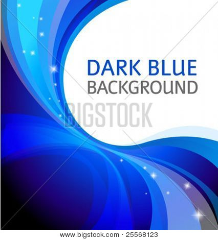 Abstract dark blue background with a corner graphic