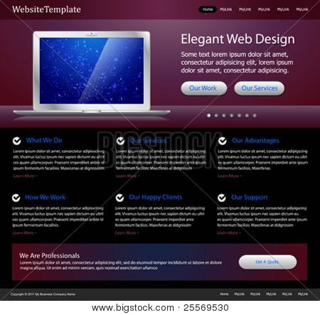plantilla web elegante púrpura - para diseñadores