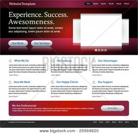 stylish business website - red, black, white colored