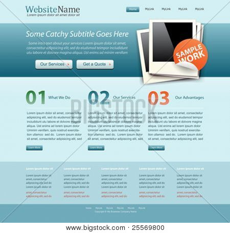 blue business website template