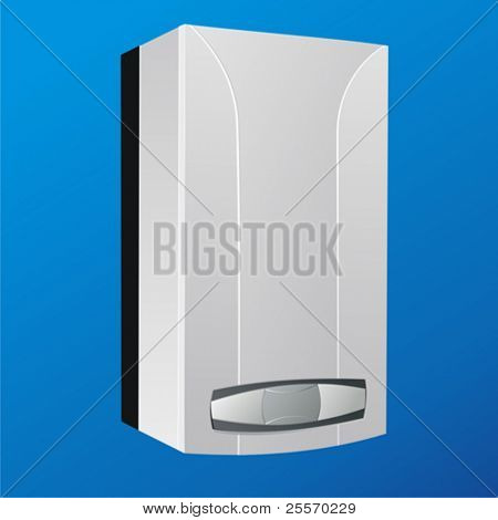 heating boiler vector