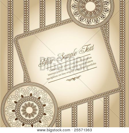 vector greeting card in ethnic style