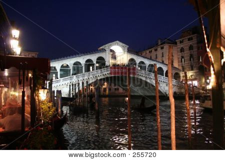 Venice By Night  Rialto Bridge