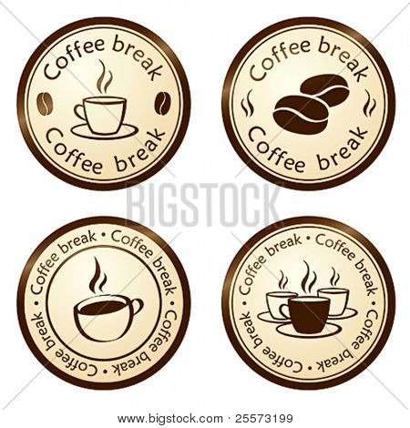 coffee break stamps set
