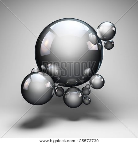 Design abstract geometric shapes of the balls