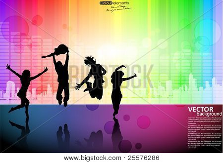 dancers abstract vector background