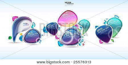 set bubbles for speech.vector eps10