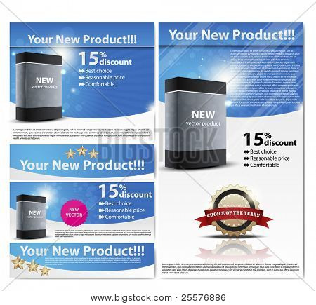 business  flayer. Set for product registration. web 2.0 EPS10 vector