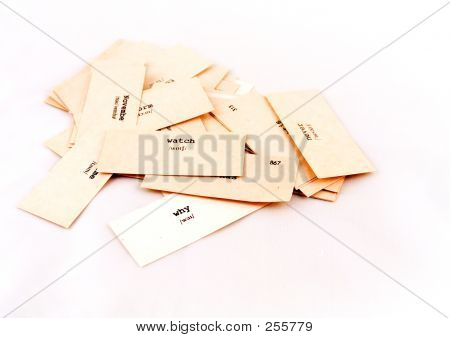 The Paper Cards With Words