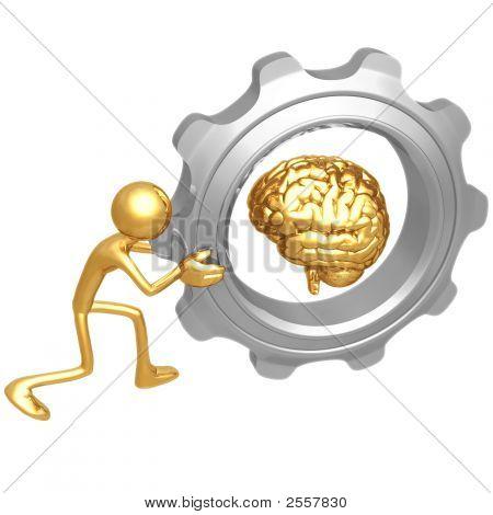 Empuje de engranaje del cerebro